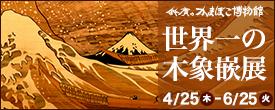 かまぼこ博物館 企画展示 世界一の木象嵌展