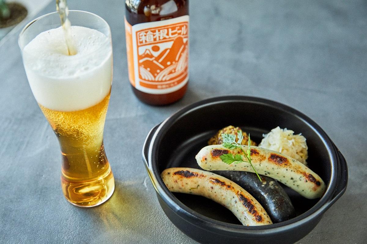 シーフランクと箱根ビール