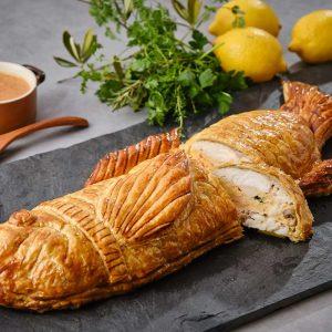 白身魚のパイ包み焼き