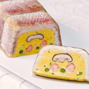 真鯛包みの白身魚テリーヌ
